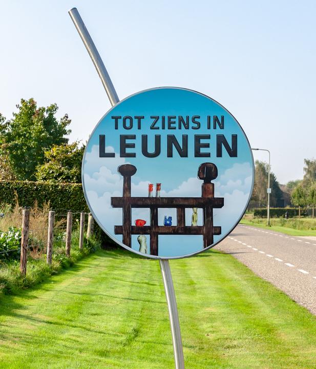 Welkomstbord Leunen